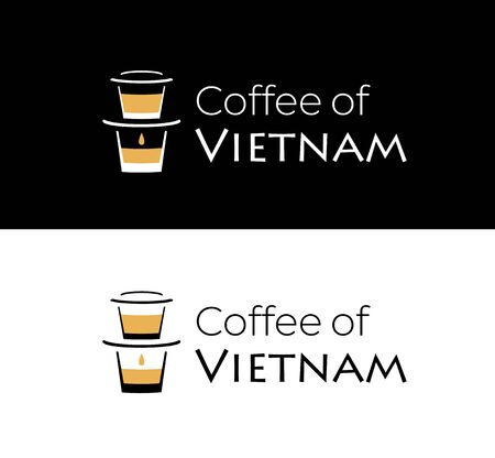 Minimal logotype for coffee shop or Vietnamese restaurant.