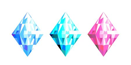 Abstract Crystal colorful design of geometric shape digital vector illustration.
