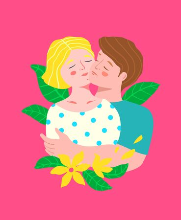 Man and woman couple hugging portrait, embracing love intimacy closeness feelings.
