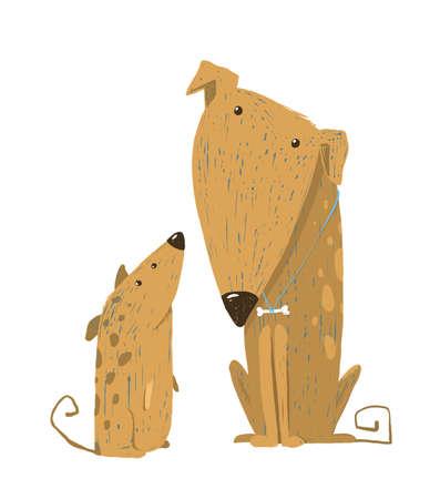 Animal pet friend, drawing puppy, breed doggy, vector illustration Standard-Bild