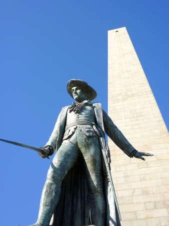 Historic Bunker Hill Monument in Boston, Massachusetts, on a bright day.    photo