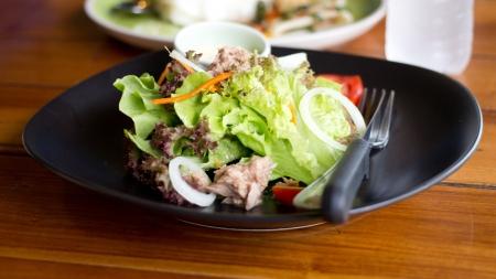 Tuna salad in a restaurant Thailand Stock Photo - 21168054