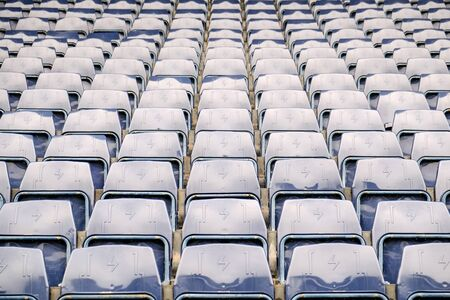 Navy blue amphitheater in football arena