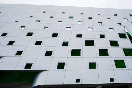 aluminium composite facade of building