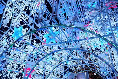 led lighting decoration in the lighting festival