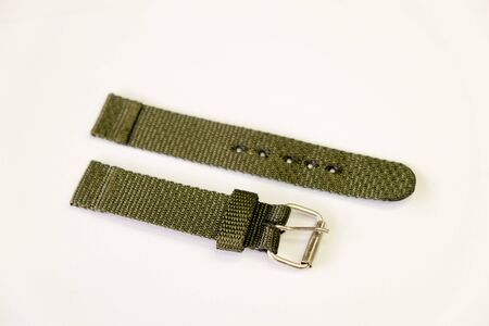 fabric watch strap object isolate on the white background 免版税图像