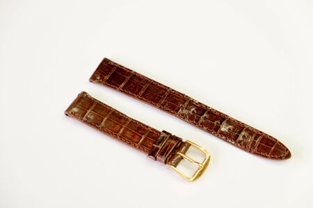leather watch strap object isolate on the white background