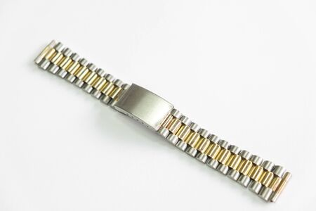 metal watch strap object isolate on the white background