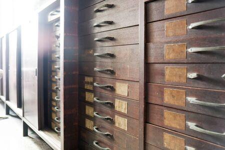 vintage drawer at the old shop display