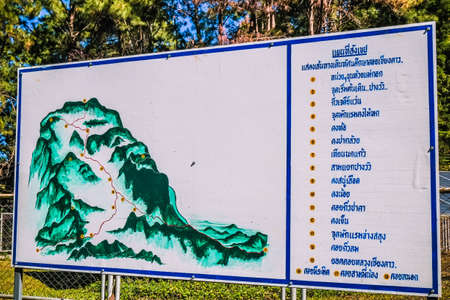 map of national park in thailand