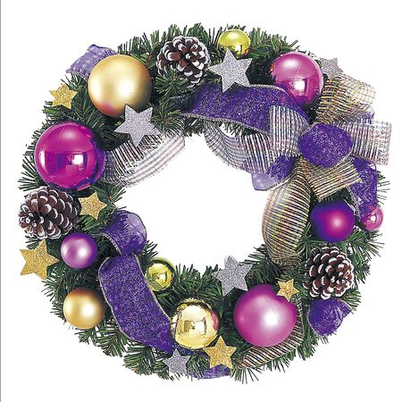 Purple Wreath 1 写真素材