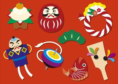 New year's motifs 矢量图像