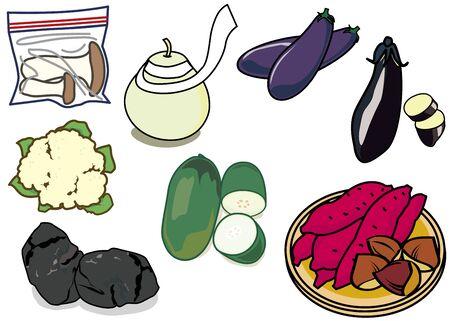 Fruits and vegetables Banco de Imagens - 128475062