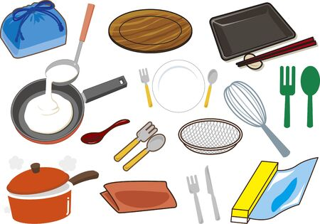 Illustration Tableware Vektorové ilustrace