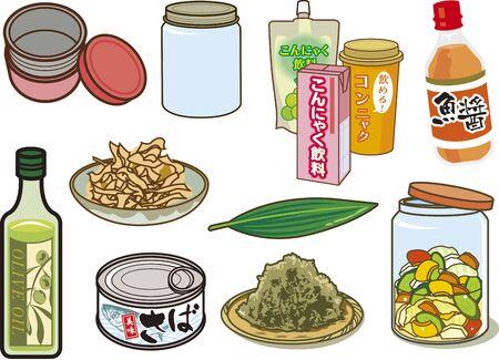 Food related 向量圖像