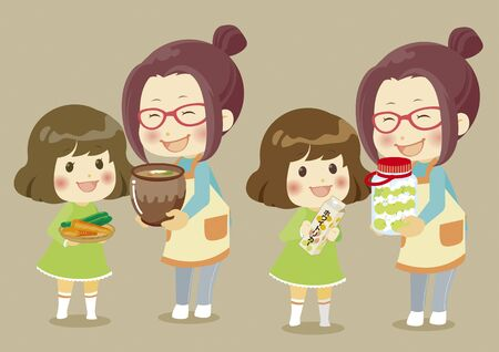 Pickles with parents and children