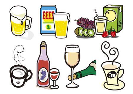 Beverages 3 向量圖像