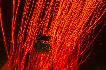 Sky lanterns in Pinghsi Stock Photo