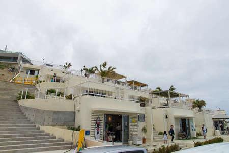 Umikaji Terrace ,Okinawa, Japan -April 21 ,2018: Many tourists visit Umikaji Terrace
