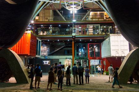 Tiehua Music Village:Taitung, Taiwan -August 19 ,2018:Many tourists visit Tiehua Music Village 新闻类图片