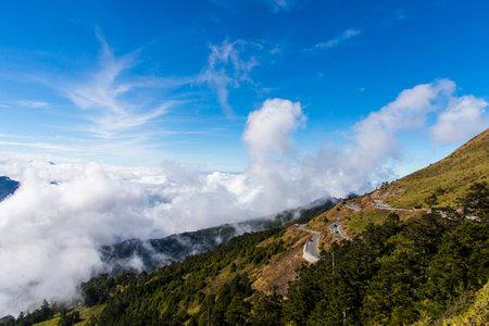 Sunny and towering Hehuan Mountain 免版税图像