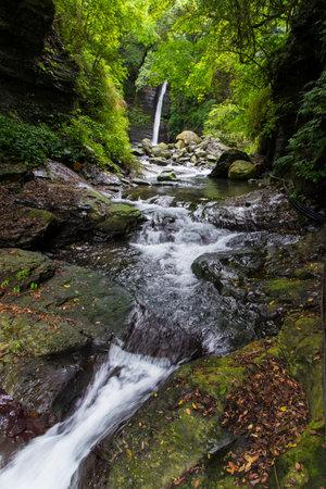 Little Wulai Waterfall in Taoyuan Taiwan 免版税图像