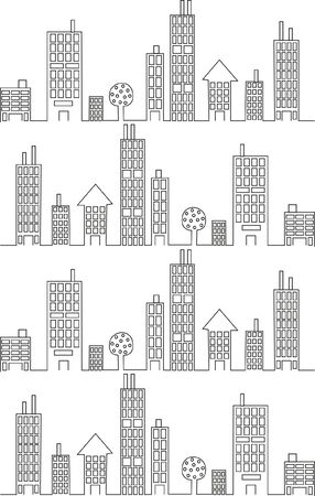balck and white: city silhoutte