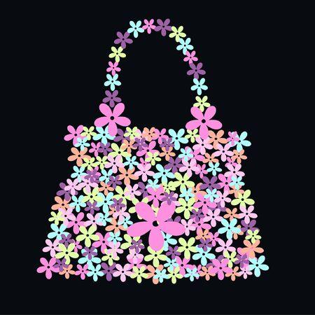 handbags: flower bag