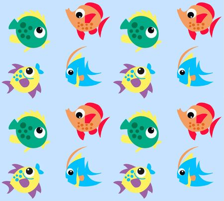 childrens book: seamless fish pattern