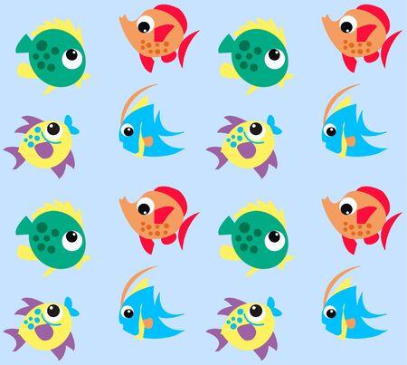 seamless fish pattern Stock Vector - 7579661