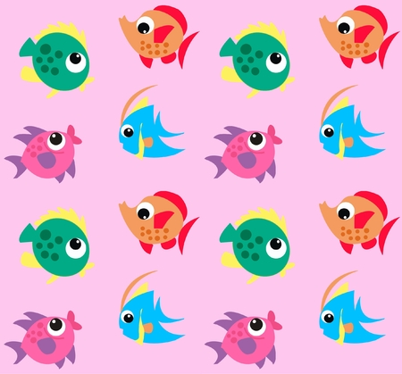 seamless fish pattern Stock Vector - 7579663