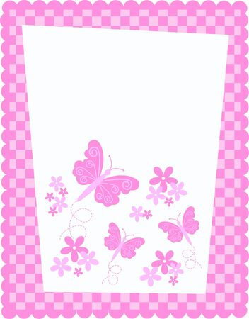 butterfly and flower card Stock Vector - 7579667
