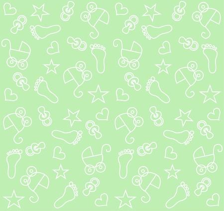seamless baby unisex pattern Stock Vector - 7579674