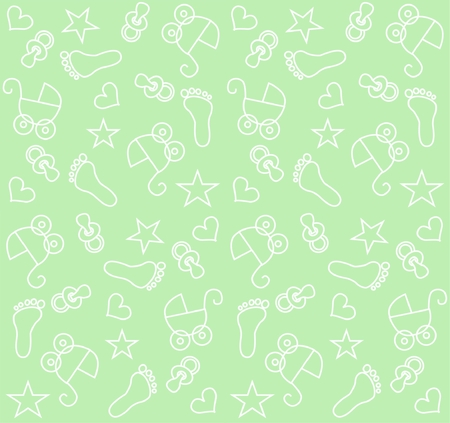 seamless baby unisex pattern Stock Vector - 7579674