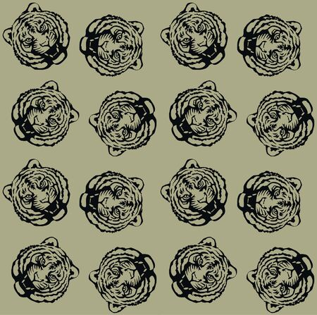 seamless tiger pattern Vector