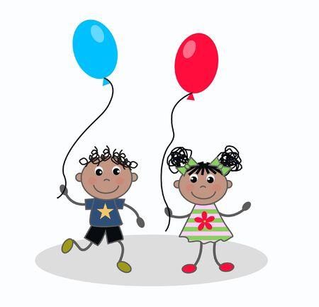 Happy kids  Vektorgrafik