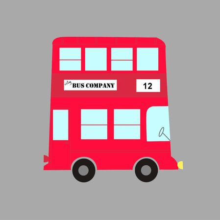 red bus Stock Vector - 7716671
