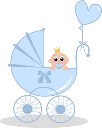 newborn baby boy Stock Vector - 7734376