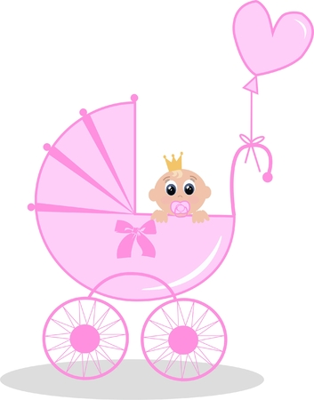 newborn baby girl Stock Vector - 7739250