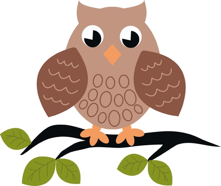 owl sitting on a branch Stock Vector - 7739595