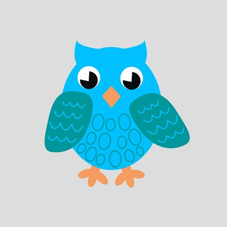 blue owl Stock Vector - 7739594