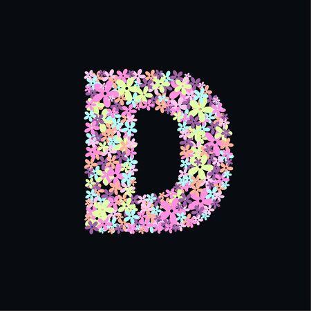 letter D Stock Vector - 10864380