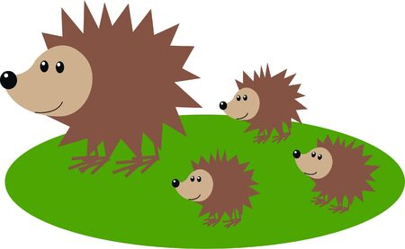 hedgehog pattern Vector