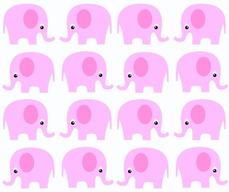 elefanten: nahtlose Elefant-Muster  Illustration