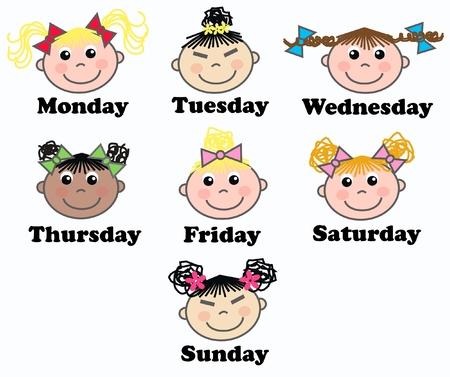 días de la semana  Ilustración de vector