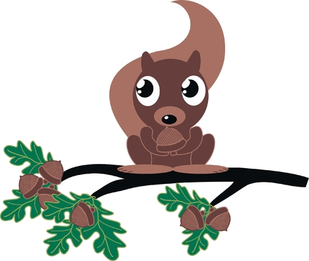 a cute squirrel Vector