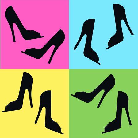 zapatos azules: patr�n de zapato transparente  Vectores