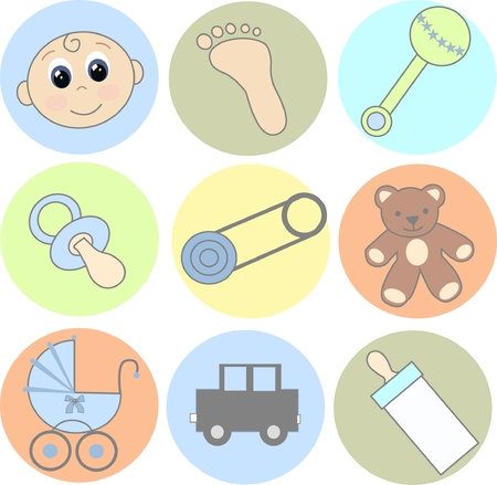 baby icons Stock Vector - 7821731