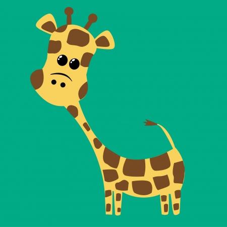 a cute giraffe Vector