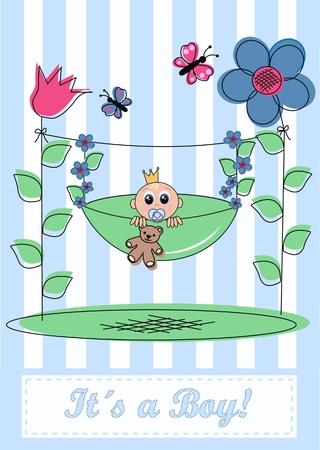 tarjeta de anuncio de bebé